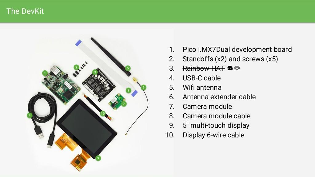 The DevKit 1. Pico i.MX7Dual development board ...