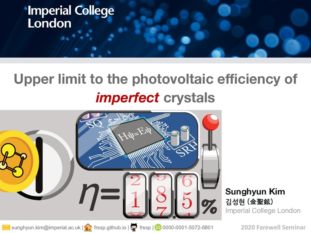 Upper limit to the photovoltaic efficiency of imp...