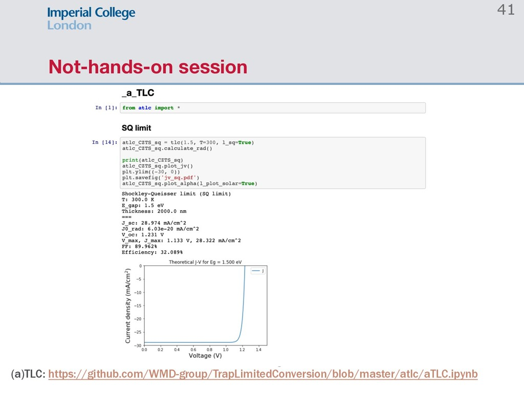 Not-hands-on session (a)TLC: https://github.com...