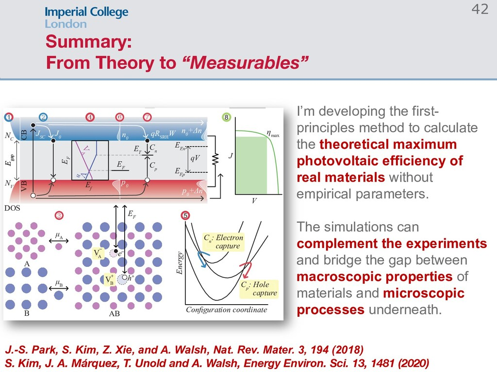 "Summary: From Theory to ""Measurables"" 42 & S & ..."