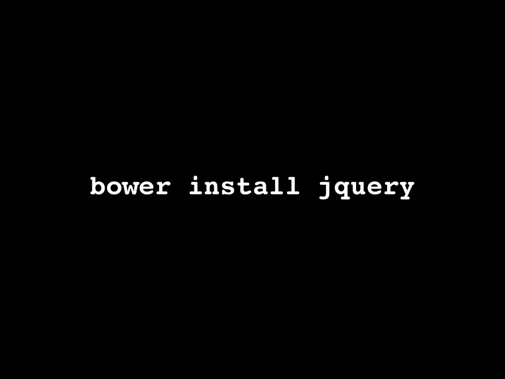 bower install jquery