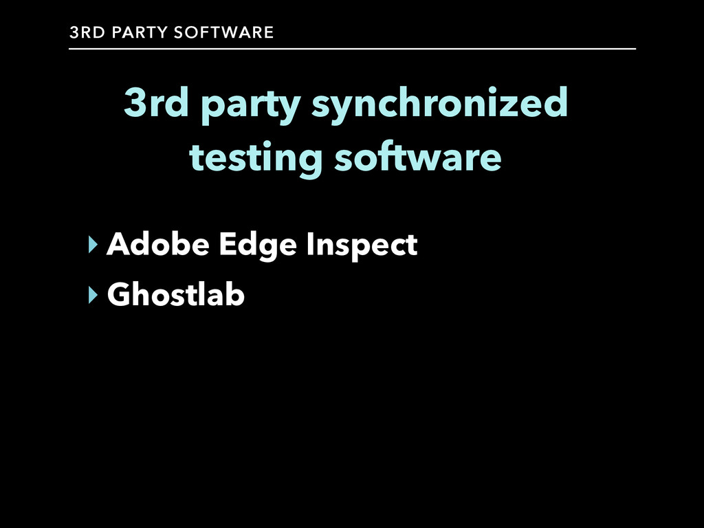 3RD PARTY SOFTWARE 3rd party synchronized testi...