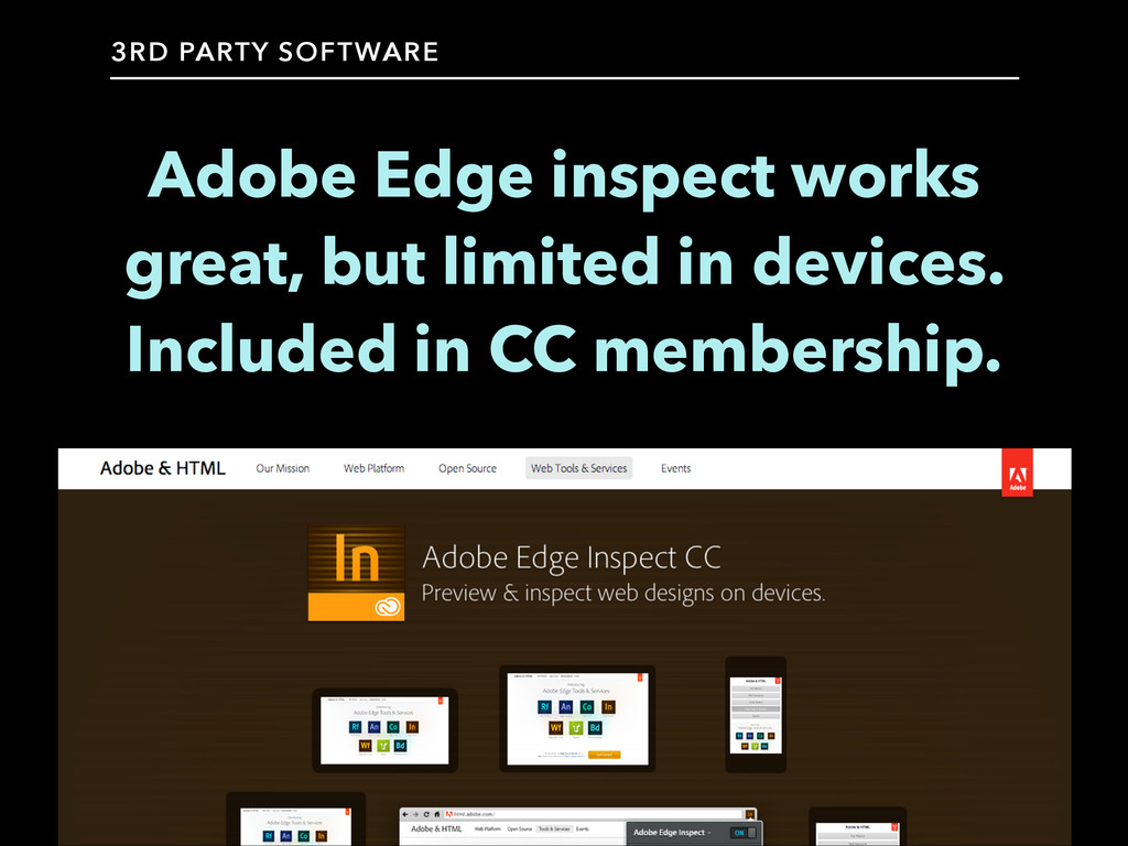 Adobe Edge inspect works great, but limited in ...