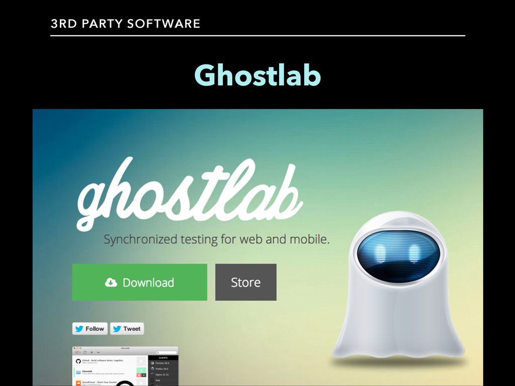 Ghostlab 3RD PARTY SOFTWARE