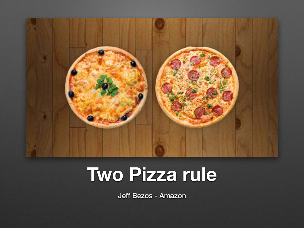 Two Pizza rule Jeff Bezos - Amazon