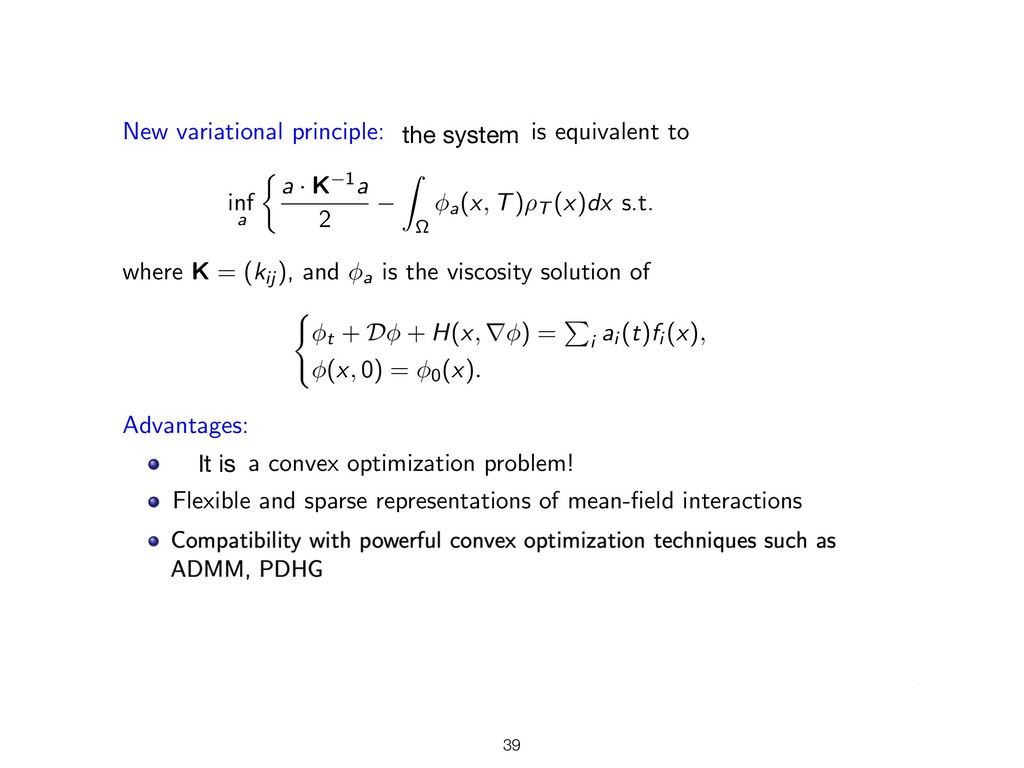 New variational principle: System (14) is equiv...