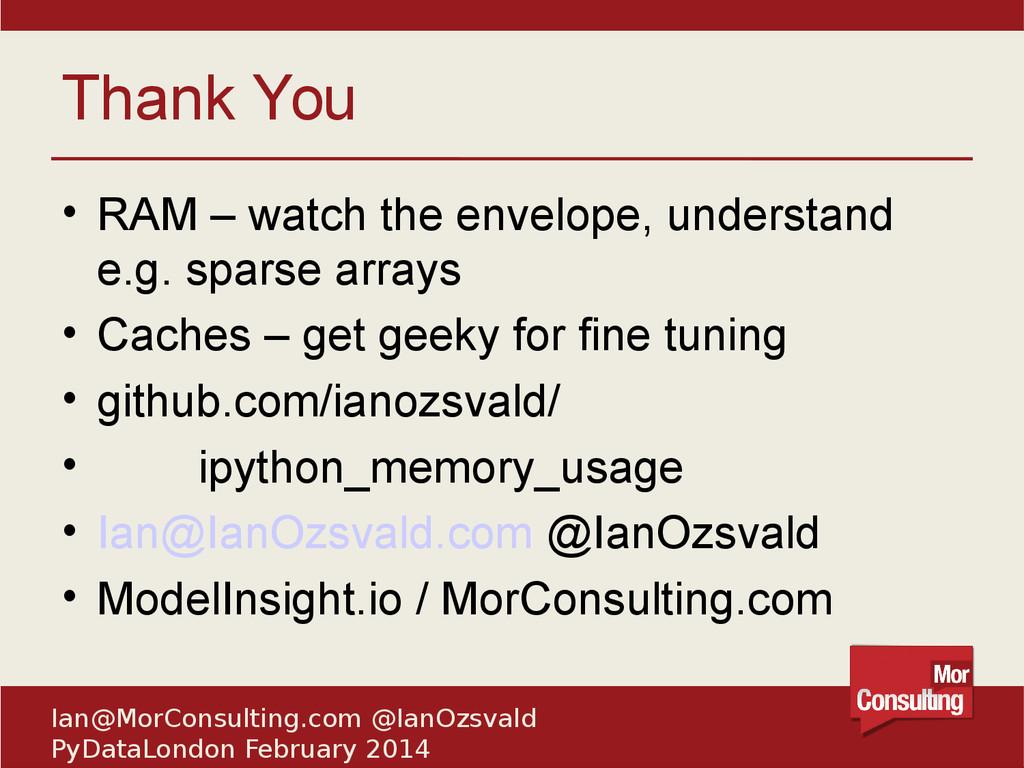 Ian@MorConsulting.com @IanOzsvald PyDataLondon ...