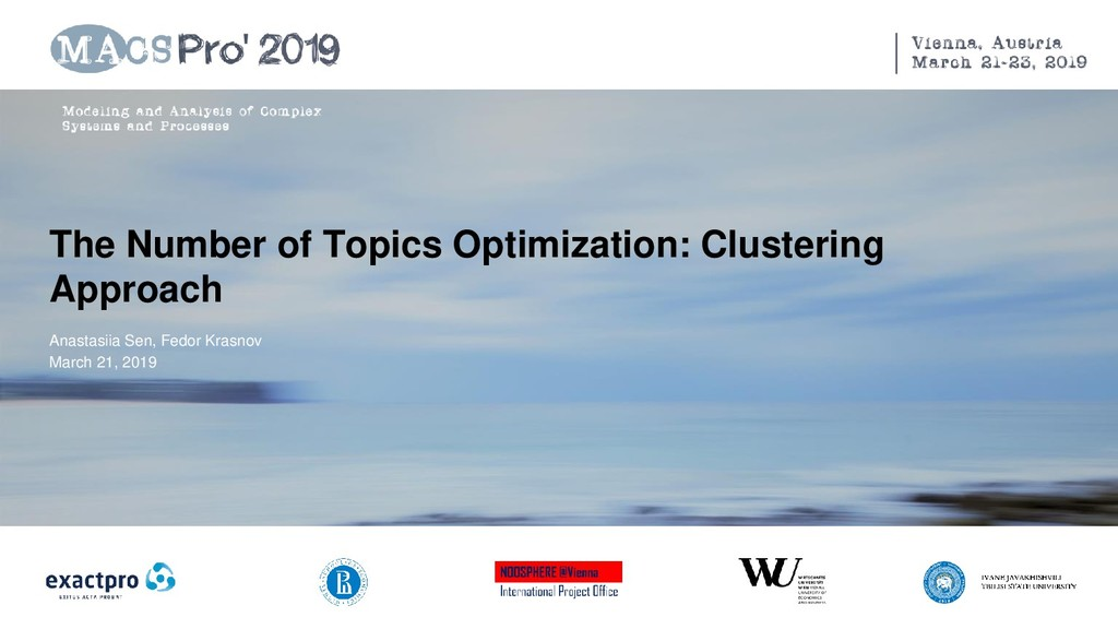 The Number of Topics Optimization: Clustering A...