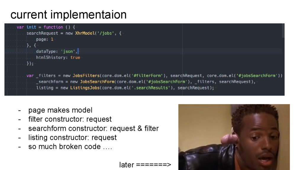 current implementaion - page makes model - filt...