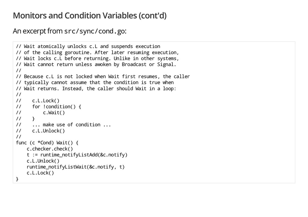 Monitors and Condition Variables (cont'd) An ex...