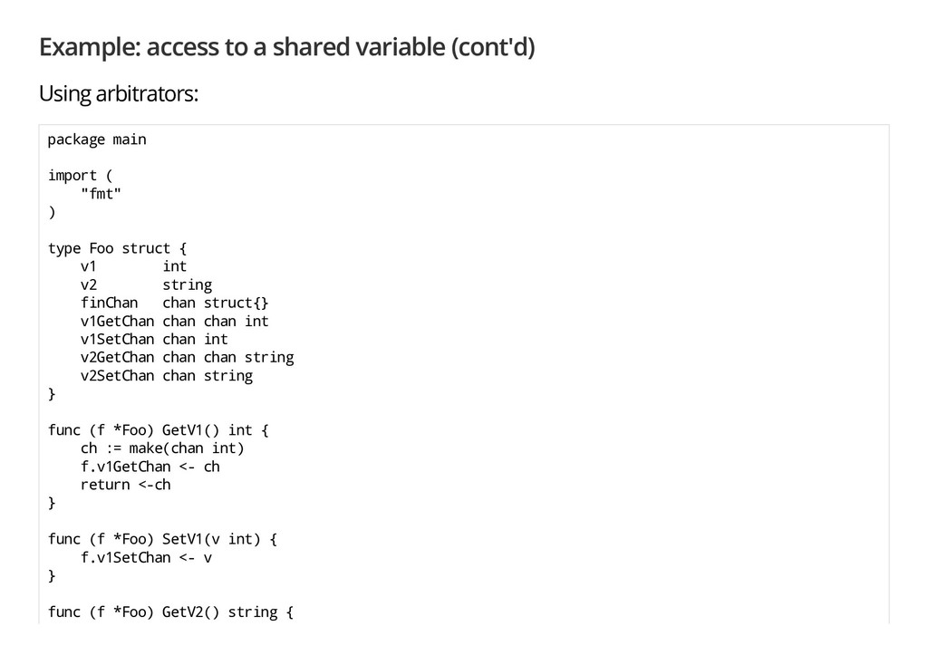 Example: access to a shared variable (cont'd) U...