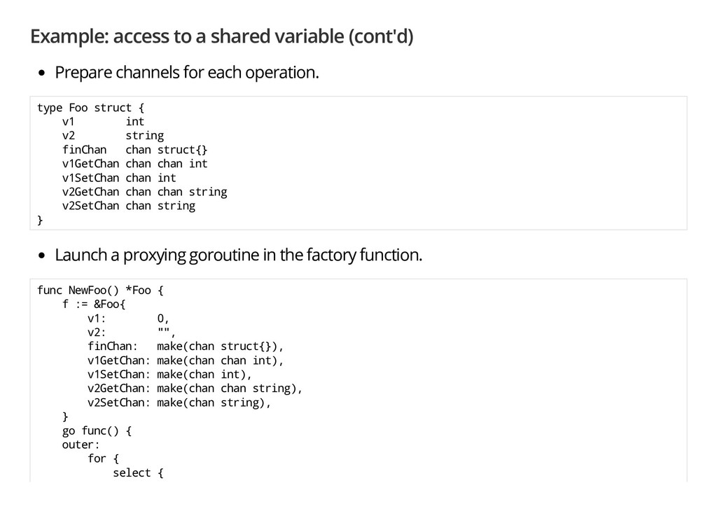 Example: access to a shared variable (cont'd) P...