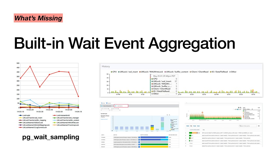 Built-in Wait Event Aggregation What's Missing ...