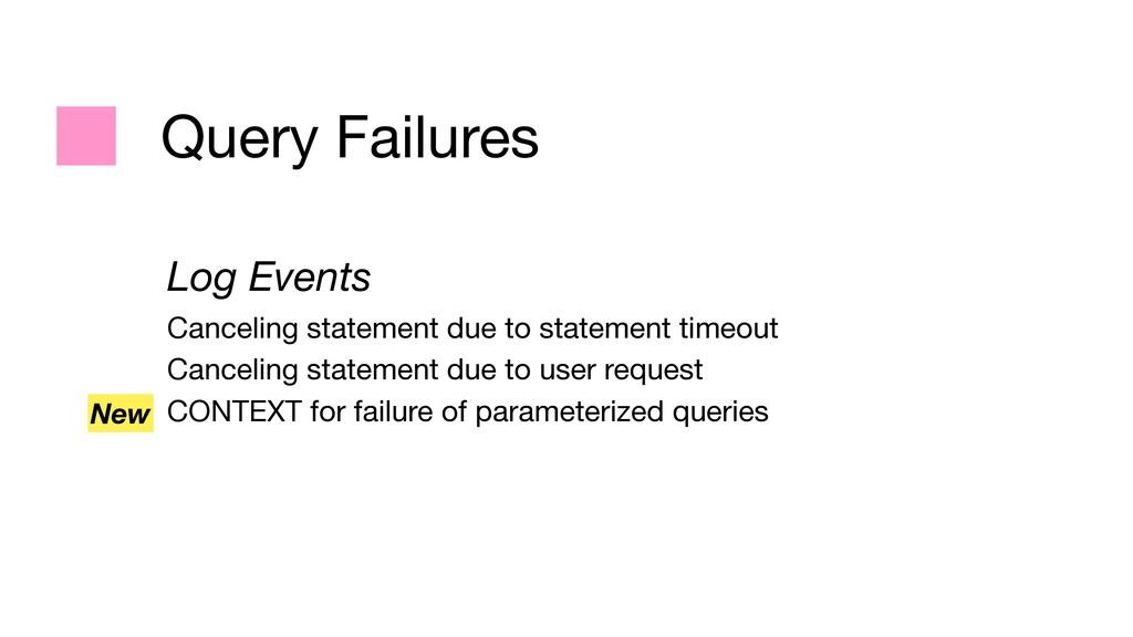 Query Failures Log Events Canceling statement d...