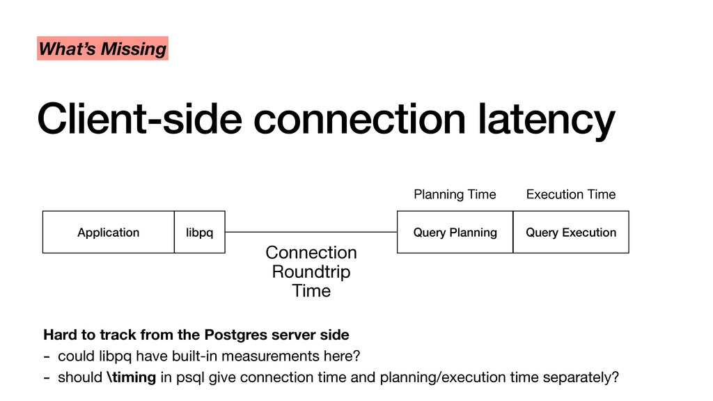 Client-side connection latency What's Missing A...