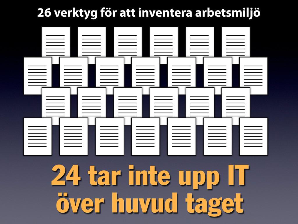26 verktyg för att inventera arbetsmiljö 24 tar...