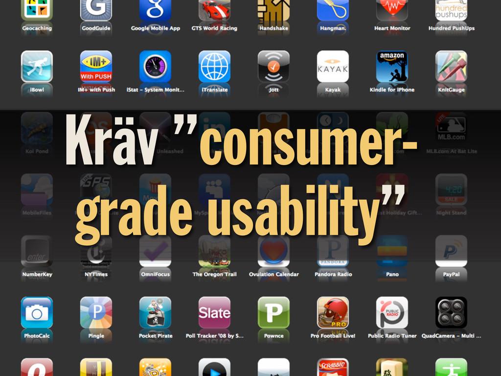 """Kräv """"consumer- grade usability"""""""