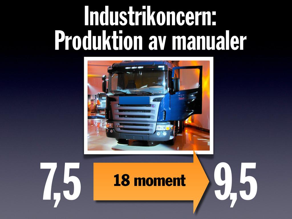7, 5 9, 5 18 moment Industrikoncern: Produktion...