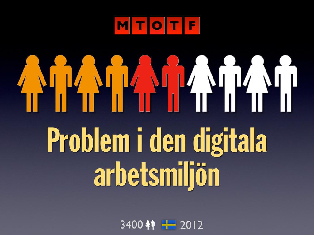 Problem i den digitala arbetsmiljön 3400 2012 M...