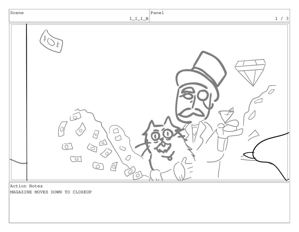Scene 1_I_1_B Panel 1 / 3 Action Notes MAGAZINE...