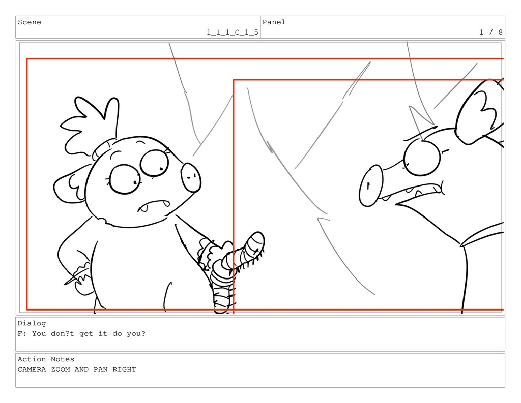 Scene 1_I_1_C_1_5 Panel 1 / 8 Dialog F: You don...