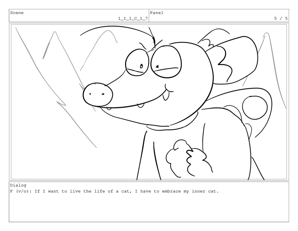 Scene 1_I_1_C_1_7 Panel 5 / 5 Dialog F (v/o): I...