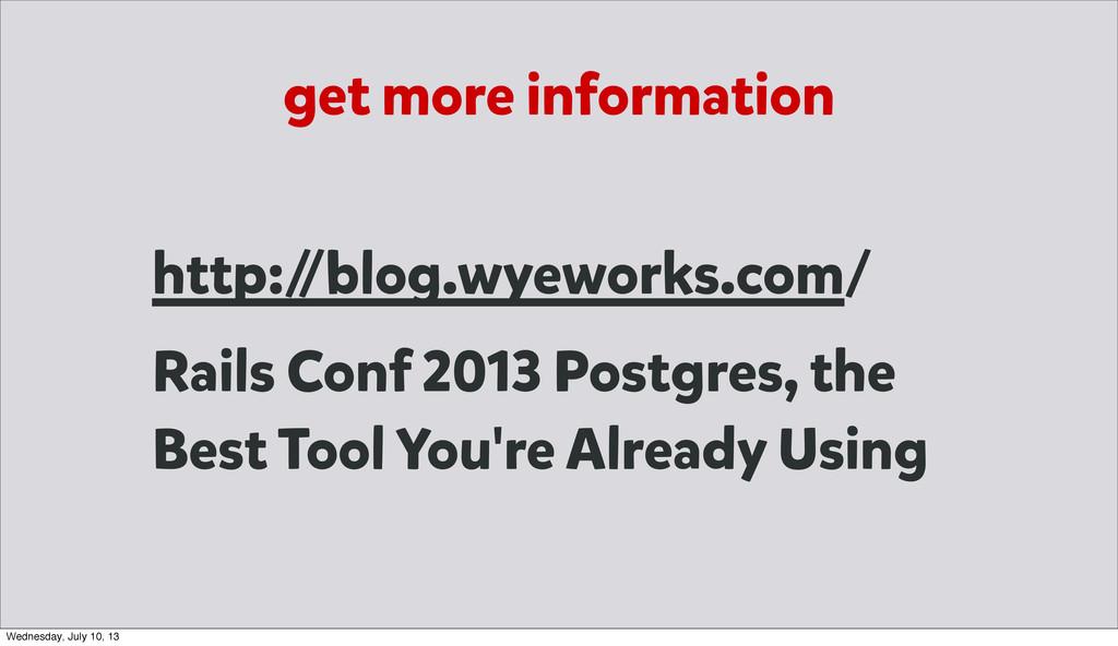 get more information http:/ /blog.wyeworks.com/...