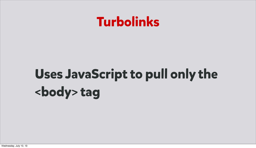 Uses JavaScript to pull only the <body> tag Tur...