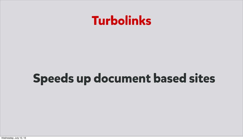 Speeds up document based sites Turbolinks Wedne...