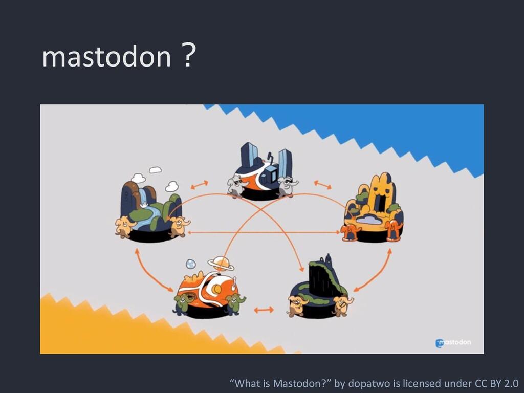 """mastodon? """"What is Mastodon?"""" by dopatwo is lic..."""