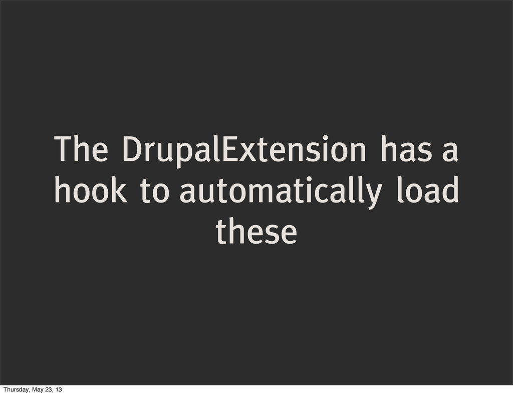The DrupalExtension has a hook to automatically...