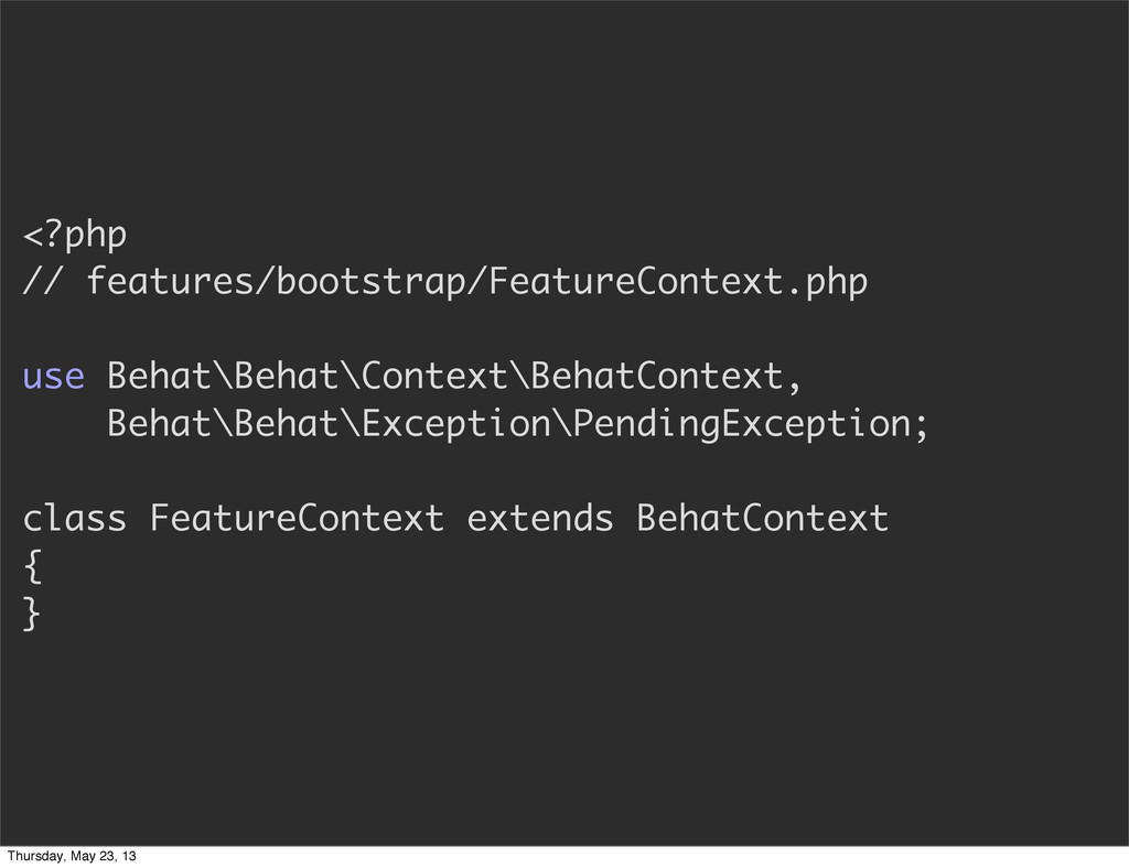 <?php // features/bootstrap/FeatureContext.php ...