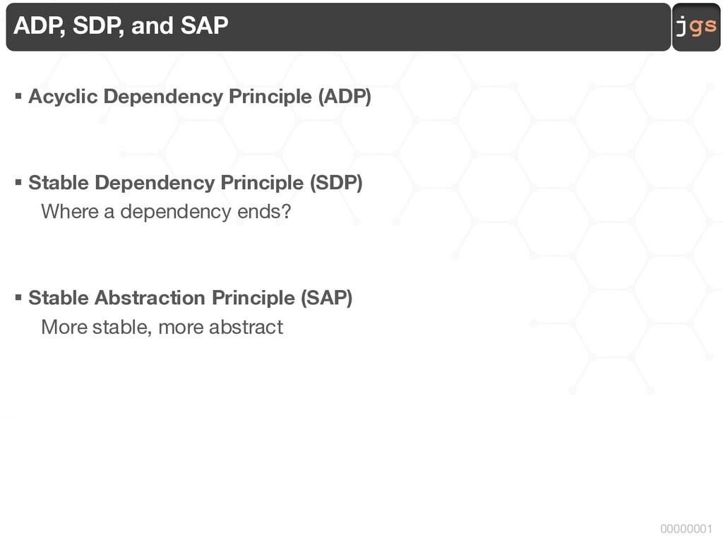 jgs 00000001 ADP, SDP, and SAP § Acyclic Depend...
