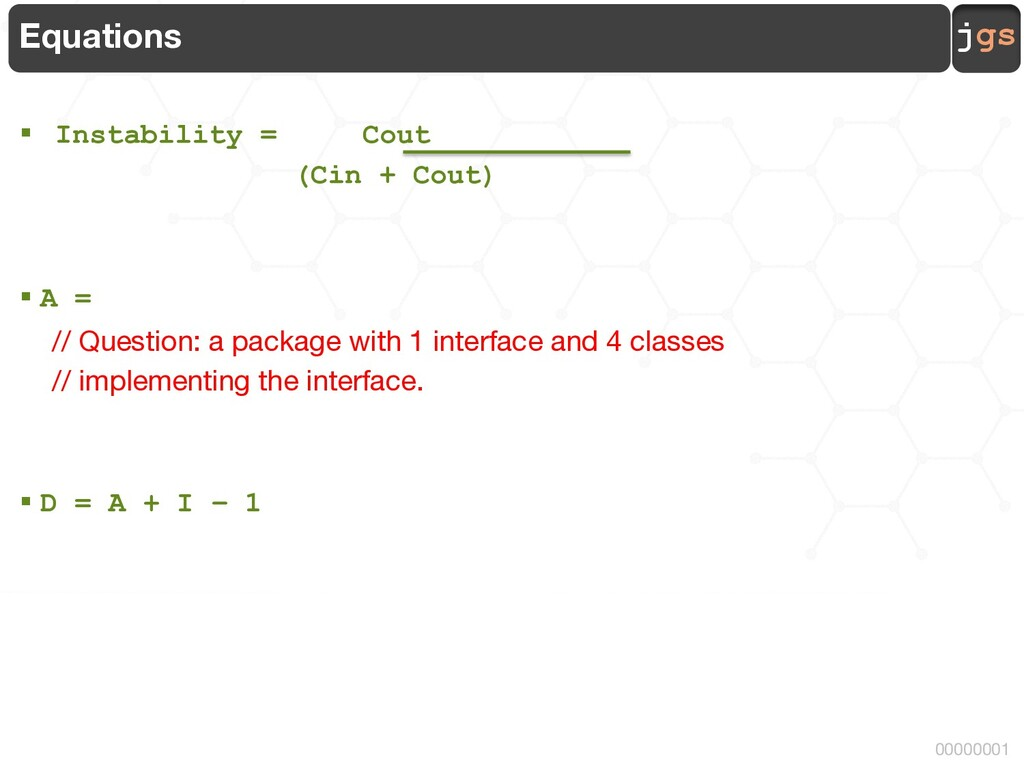 jgs 00000001 Equations § Instability = Cout (Ci...
