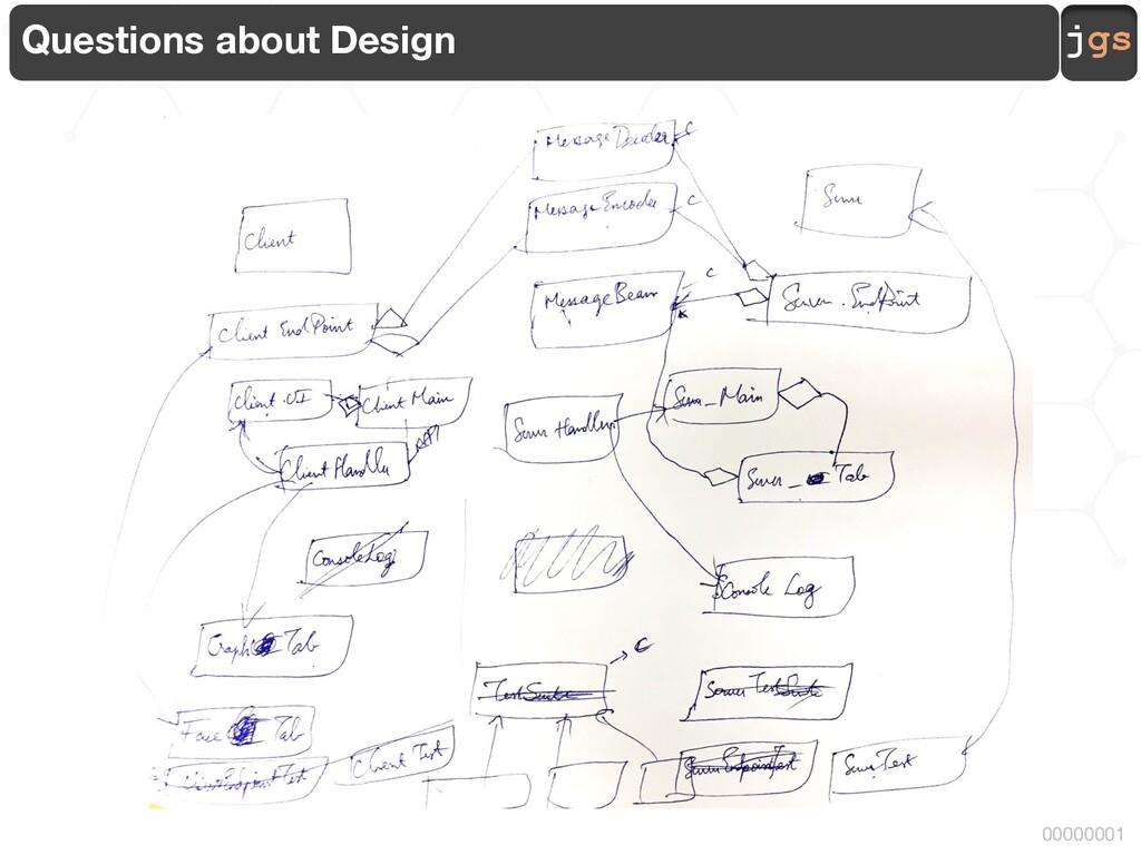jgs 00000001 Questions about Design