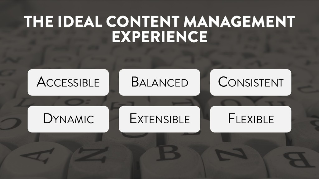 THE IDEAL CONTENT MANAGEMENT EXPERIENCE ACCESSI...