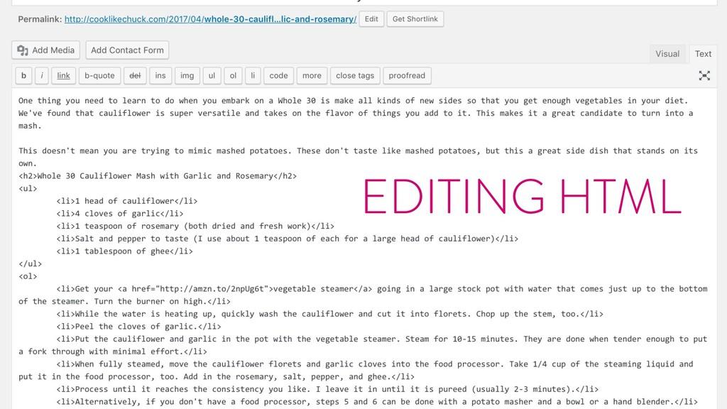 @marktimemedia EDITING HTML