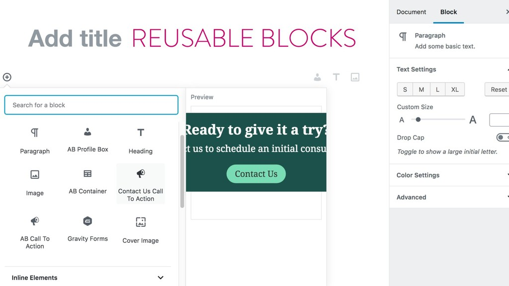 @marktimemedia REUSABLE BLOCKS