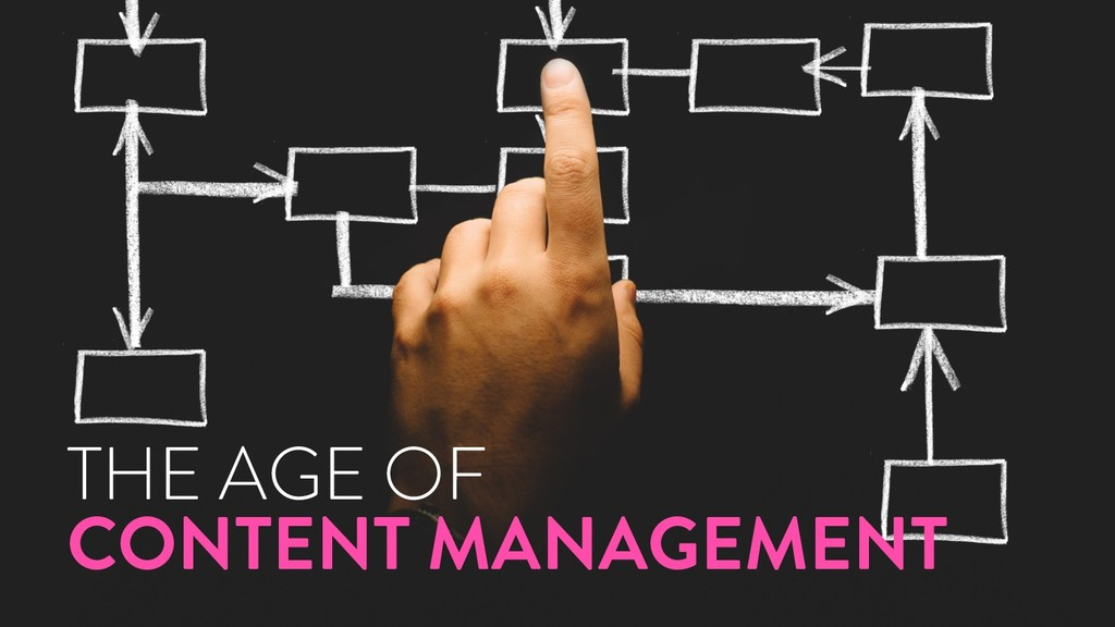@marktimemedia THE AGE OF CONTENT MANAGEMENT