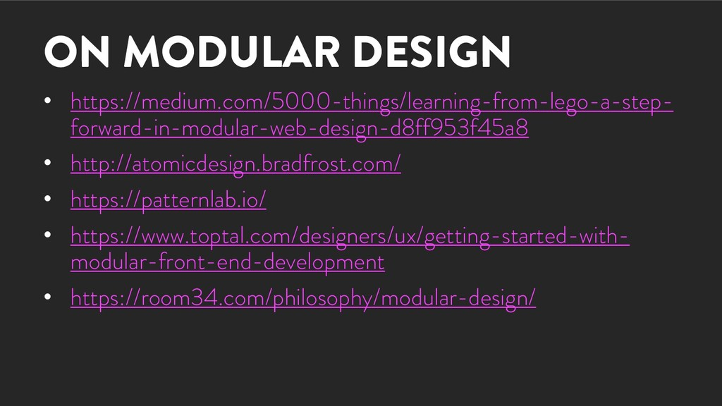 ON MODULAR DESIGN • https://medium.com/5000-thi...