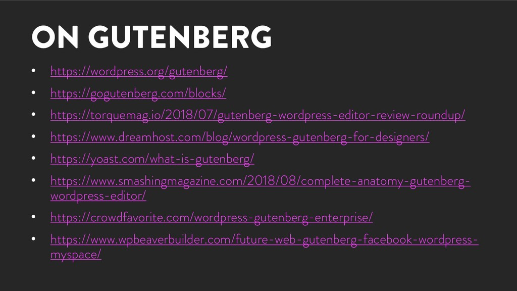 ON GUTENBERG • https://wordpress.org/gutenberg/...