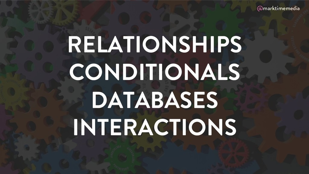 @marktimemedia RELATIONSHIPS CONDITIONALS DATAB...