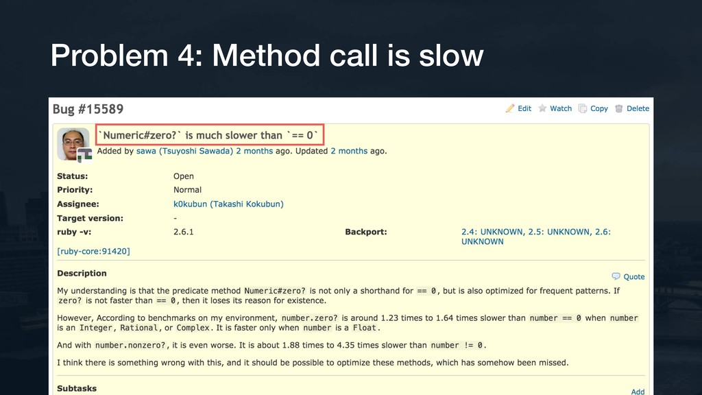 Problem 4: Method call is slow