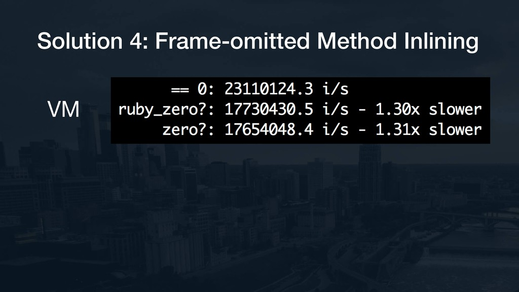 Solution 4: Frame-omitted Method Inlining VM