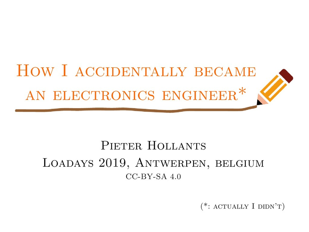 How I accidentally became an electronics engine...