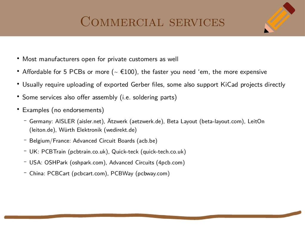 Commercial services ● Most manufacturers open f...