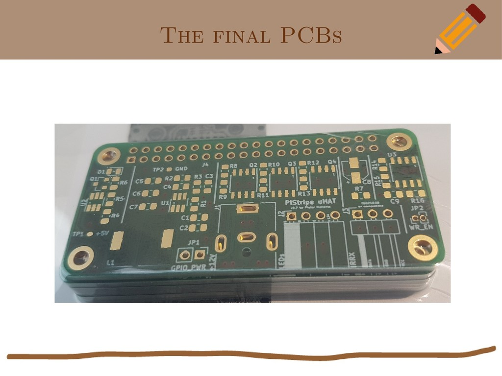 The final PCBs