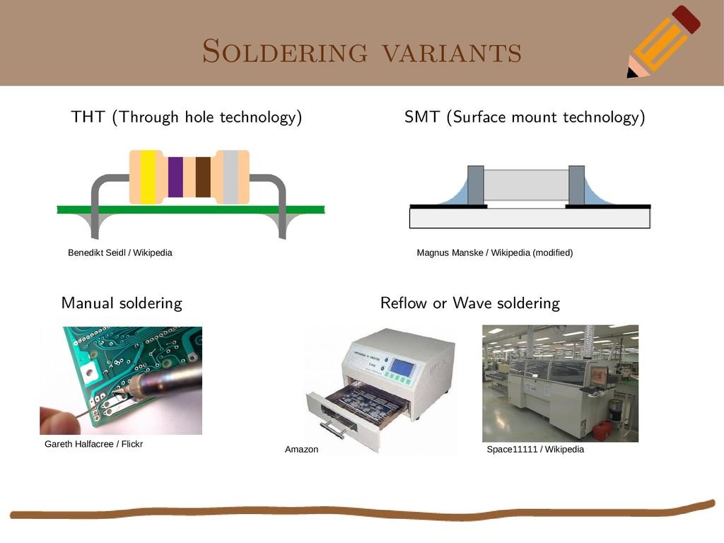 Soldering variants THT (Through hole technology...