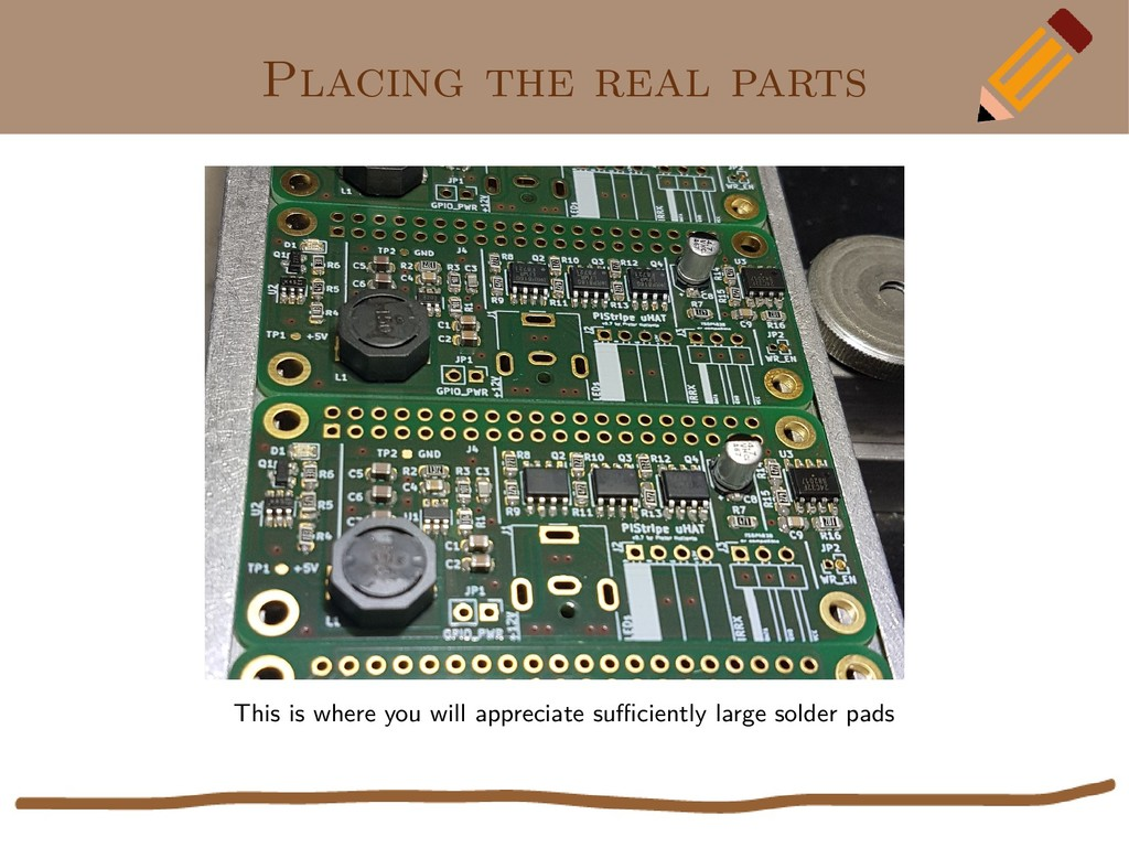 Placing the real parts This is where you will a...