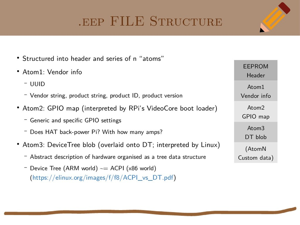.eep FILE Structure ● Structured into header an...